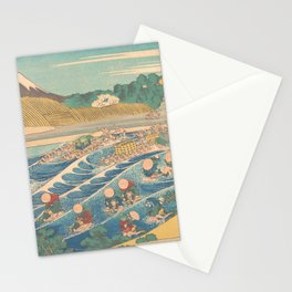 Fuji Seen from Kanaya on the Tōkaidō, Series Thirty-six Views of Mount Fuji by Katsushika Hokusai Stationery Cards
