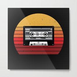 Retro Vintage Radio Casette Gift Idea Design Metal Print
