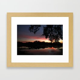 Serenity Sunset Framed Art Print