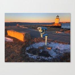 February Sunset at Bug Light (2) Canvas Print