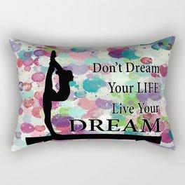 Gymnastics Live Your Dream Design Rectangular Pillow