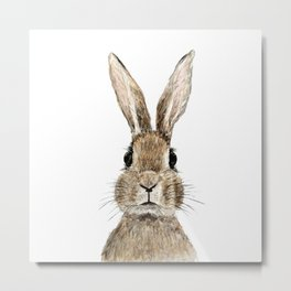 cute innocent rabbit Metal Print