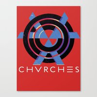 chvrches Canvas Prints featuring CHVRCHES  by A Fuckin' Teenage Tragedy