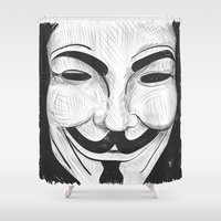 anonymous Shower Curtains featuring Anonymous by nicole carmagnini