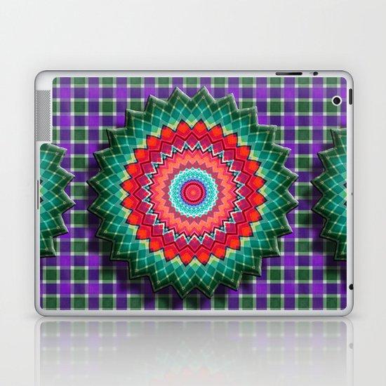 Plaid Flower Laptop & iPad Skin