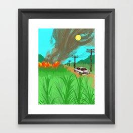 Sugar Cane Fires Framed Art Print
