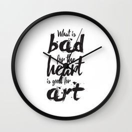 Bad for the Heart Wall Clock