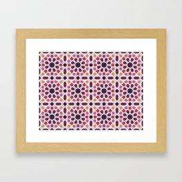 Arabic tiles A7 Framed Art Print