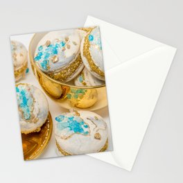 Blue Geode Macarons Stationery Cards