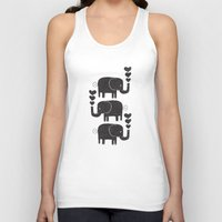 elephants Tank Tops featuring ELEPHANTS by Matthew Taylor Wilson