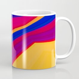 Abstract geometric pattern. Multicolored stripes Coffee Mug