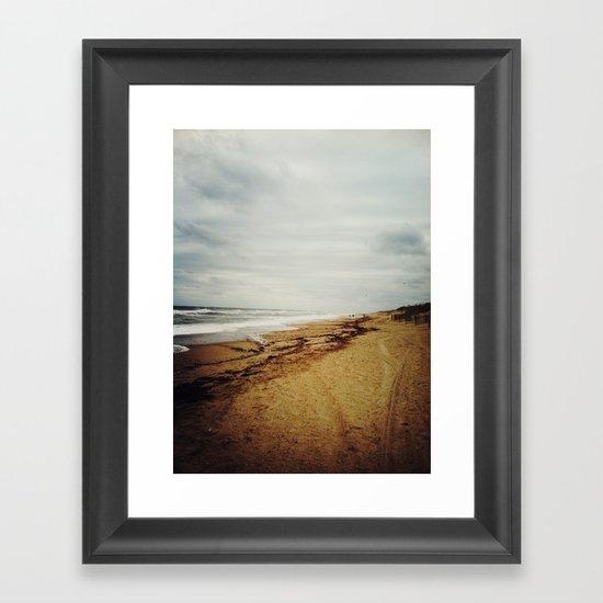 chilly beach Framed Art Print