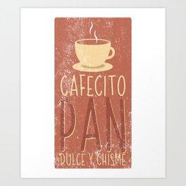 Humorous Cafecito Chisme Spanish Graphic Pun Hilarious Baguettes Croissants Men Women T Shirt Art Print