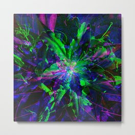 Dark Lily Abstract Metal Print