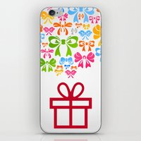 gift card iPhone & iPod Skins featuring Gift by aleksander1
