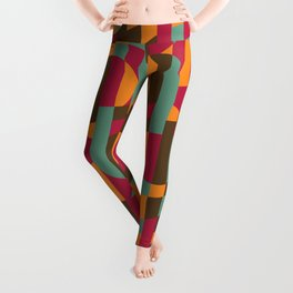Abstract Graphic Art - Roller Coaster Leggings