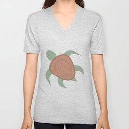 Green Turtle Unisex V-Neck