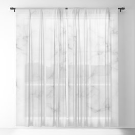 The Perfect Classic White with Grey Veins Marble Sheer Curtain