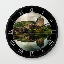 Landscape with an old castle Wall Clock