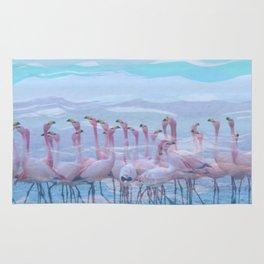Flamingos #7, fun design Rug