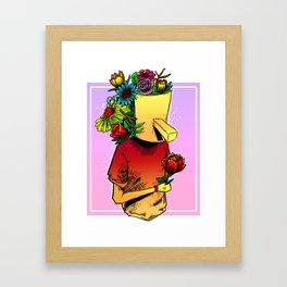 gives you flowers Framed Art Print