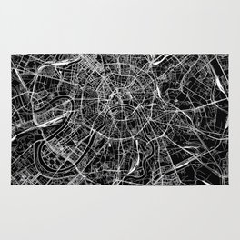 Moscow Black Map Rug