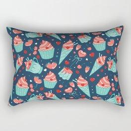 Valentine's sweets - Blue Rectangular Pillow