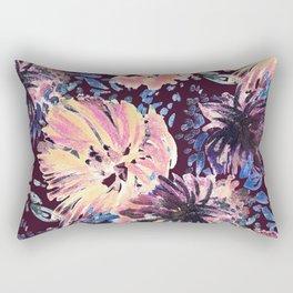 Brushed stylised flowers painting Rectangular Pillow