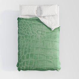 Croco leather effect - green Comforters