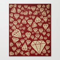 diamond Canvas Prints featuring diamond by Landon Sheely