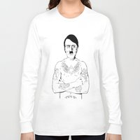 jewish Long Sleeve T-shirts featuring Adolf Hitler Jewish Tattoo by Jacinta Stokes