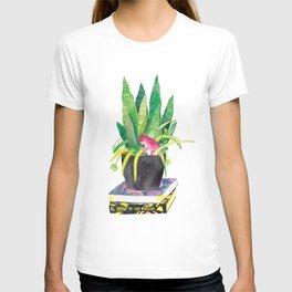 Plant Jungle Dinosaur Watercolor T-shirt