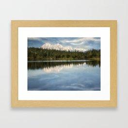 Mt. Denali Reflected Framed Art Print