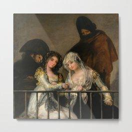 "Francisco Goya ""Majas on a Balcony"" Metal Print"