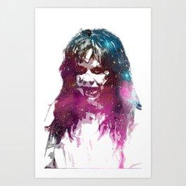 Galaxy Linda Blair Regan MacNeil The Exorcist Art Print