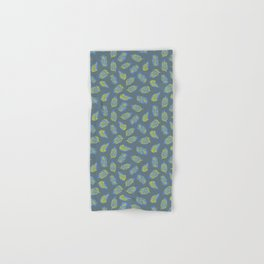 Leaves on Blue Gray Hand & Bath Towel