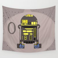 r2d2 Wall Tapestries featuring R2D2 by Meg Gerena