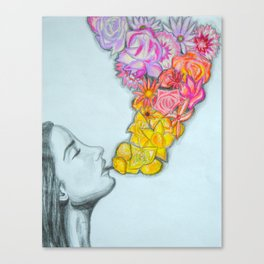 flower smoke Canvas Print