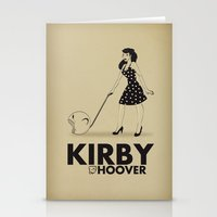 kirby Stationery Cards featuring Kirby Hoover by Lily's Factory