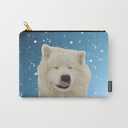 Samoyed Funny Face Winter Snow Carry-All Pouch
