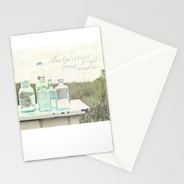 Light Shines Through Stationery Cards