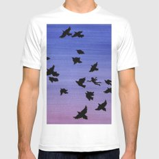 I won't apologize for being a bird MEDIUM White Mens Fitted Tee