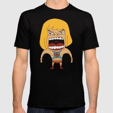 Screaming He-Man Black Mens Fitted Tee SMALL