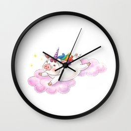 Unicorn Pig Wall Clock