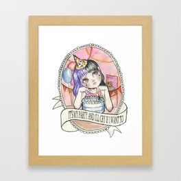 Pity Party Framed Art Print