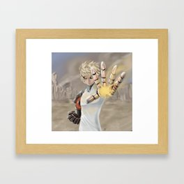 One Punch Man - Genos Framed Art Print