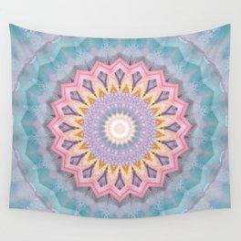 Mandala aquamarin Wall Tapestry