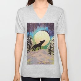 Howling at the Moon Unisex V-Neck