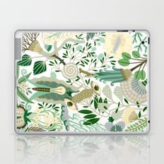 Green Flower Fantasy  Laptop & iPad Skin