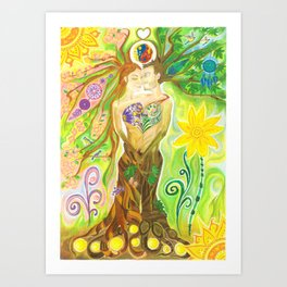 Trees in Love Art Print
